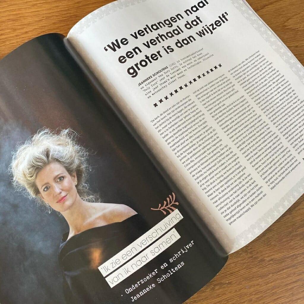 Jeanneke in Happinez magazine
